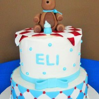 Eli's Teddy Bear Cake A teddy bear for a special baby boy!!