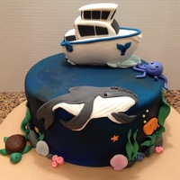 Whale Watching  This was for my daughter's 8th birthday. We wet whale watching with a few friends so she wanted a cake that represented that. her only...
