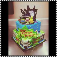 Ninja Turtles Cake 2 tier ninja turtles cake