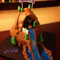 Log Jammer  I made this cake for my daughter's birthday. We went to Knott's Berry Farm so she wanted a replica of her favorite ride, The Log...