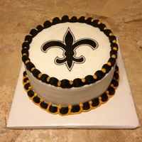 New Orleans Saints Birthday butter cream with edible image