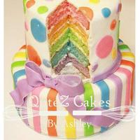 Rainbow Cake For a wonderful first birthday.