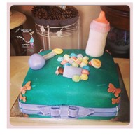 Sleeping Baby Sleeping Baby- Baby Shower Cake