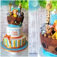 Christening Cake Of My Godson Noahs Ark Hello lovely cake friends, Yesterday was a very important event in our family even my godson and nephew had his christenning and first...