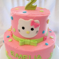 Hello Kitty Client wanted this cake from a pic she sent me so this is my version!