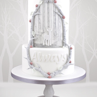 Always Looks like a normal white wedding cake, but infact it has a HUGE geeky message :DCan you tell what it is?