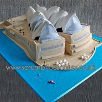 Sydney Opera House Wedding Vake This huge Sydney Opera House wedding cake was made for clients who emigrated to Sydney but got married back here last week - PJ x