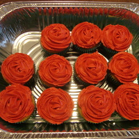 Rose Cupcake For Beauty And The Beast These were made for my grand-daughter's play.