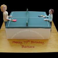 Table Tennis Cake Table tennis cake for a 70th birthday
