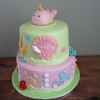 Under The Sea Baby Shower Cake Under the sea baby shower cake
