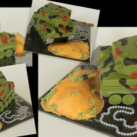Tank Cake She asked for a cake with an army tank picture on top of it for her son, who is joining the army.... I decided to make a tank-cake, much...