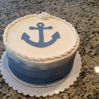 Anchor Baby Shower Cake 9 in strawberry cake with lemon cheesecake buttercream. Fondant anchor