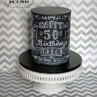 Chalkboard 50Th Birthday Cake 50th birthday cake