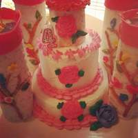 Princess Party Castle Marble cake ,princess castle one of my favorite cakes for little girls,and a doll cake too
