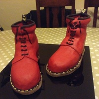 Dr Marten Boots   Choc cake covered in ganache and fondant