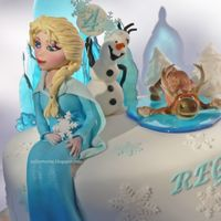 Frozen Cake Latest favorite cake.... Frozen cake. Gumpaste figure.