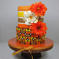Retro Celebration Cake My hubby asked me to do a cake for his work thanksgiving party so I jumped at the chance to do something that not many of you may know I...
