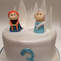 Frozen Cake 6 inch chocolate fudge cake.