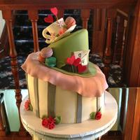 Mad Hatter Tea Party   Topsy Turvy Cake Mad Hatter