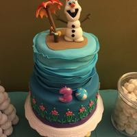 Disney Frozen Olaf Anna Cake Disney Frozen Olaf Anna Cake covered in Vanilla Satin Ice fondant. All figures made with Satin Ice gum paste.
