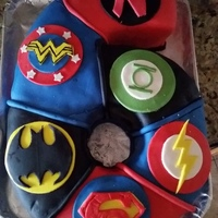 "Superhero 6 I made this for my niece's superhero party. The top 'N' is for ""super Nathalia"" (my niece). It's a copy of a..."