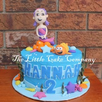 Bubble Guppies Cake  cute little cake for a 2 year old birthday. Not my original design, but I covered the cake in buttercream rather than fondant as requested...