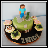 Minecraft Cake This is a Minecraft cake by sculptacake