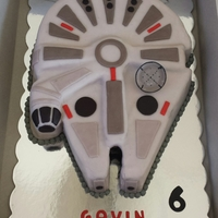 Millenium Falcon Cake Just made this cake for my first cake customer. I could have spent so much more time on it adding more & more details! I charged her $...
