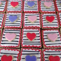 Valentine's Cookies Butter Cut Outs with Almond Glace Icing.