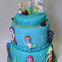 Bubble Guppies Cake Bubble Guppies with characters modeled by hand in sugar paste, more details on my blog ...