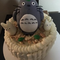 Totoro Figure   i just discover modeling chocolate so I made totoro to practice my skills