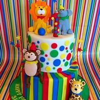 Circus And Animals Cake Circus and animals cake