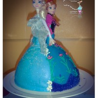 Frozen Birthday Cake Anna and Elas Frozen Birthday Cake