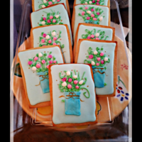 Flower Cookies RI Flower cookies for an event