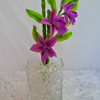 Bamboo Orchid Gumpaste Bamboo orchid