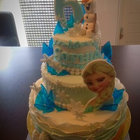 Frozen Fozen cake 3D olaf and rock candy