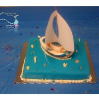 Sail Away Sail boat cake