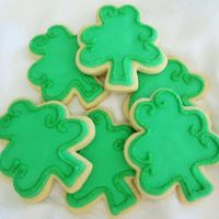 Shamrock Cookies Simple shamrock cookies.