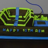 Rem's Trampoline Park Cake This was for my grandson's 10th birthday party at a trampoline park.