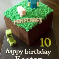 Minecraft I made this cake for a friend's son who loves Minecraft, of course, who doesn't??