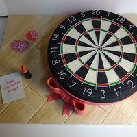 Dartboard Dartboard. Painfully slow cake to make, but enjoyable. 1) Plotted all the points of the dartboard on top of cream fondant.2) Joined all the...