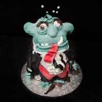 Drunken Monster This cake is one of 5 in a series I did for a woman who loved the 1st one I did for her. She kept ordering from me, she loved them so much...