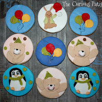 Cookies With Teddy Bears, Bunnies And Balloons Teddy bears, bunnies and balloons