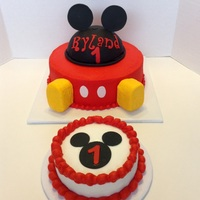 Mickey Mouse First Birthday Butter cream, mmf, Rice Krispie treats for the feet