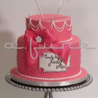 Pink Princess Cake Made for three lovely ladies!