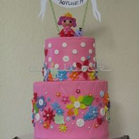 Lalaloopsy Cake Chocolate and Vanilla swirl cake filled with vanilla buttercream. Inspired by a few cakes on pinterest