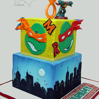 Icing Smiles Ninja Turtles Cake Every time I get asked to do an icing smiles cake I feel so privileged.Here is my forth contribution to this wonderful organization for a...