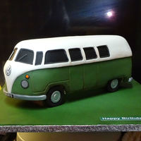 Vw Campervan VM Campervan. Built on raised board. Simple sponge cake covered in fondant.