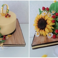 Sunflowers In My Heart Hello my dear cake friends, I made this cake for a lady who loves sunflowers over everything. Was my first attempt with all the flowers and...