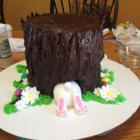 Tree Stump Cake for church dinner.